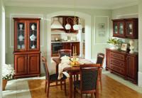 Klasická jedáleň v hnedom prevedení