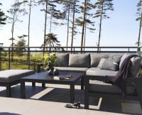 Sivo čierny exteriérový nábytok