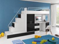 Čiernobiela chlapčenská zostava nábytku do detskej izby