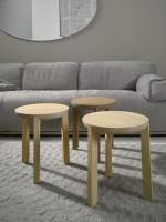 Drevené taburetky z kolekcie Juro od firmy Javorina