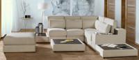 Obývačka s modernou sektorovou sedacou súpravou
