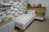 Biela detská posteľ s perinákom