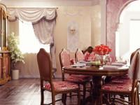 Drevený oválny jedálenský stôl pre šesť osôb