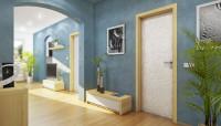 Biele interiérové dvere s ornamentom