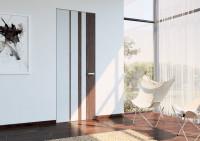 Bezfalcové dvere v kombinácii drevo s bielou