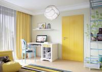 Žlté interiérové dvere v detskej izbe