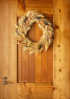 Jesenný veniec na vchodových dverách