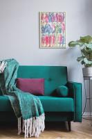Elegantná zelená retro pohovka