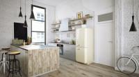Kuchyňa s barovým sedením v industriálnom štýle