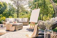 Ratanová sedacia súprava na slnečnej terase