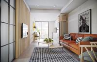 Kožená sedačka v modernom apartmáne