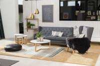 Obývacia izba v prírodných odtieňoch