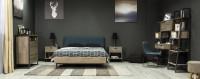 Moderná spálňa s pracovným kútikom