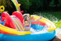 Nafukovací bazén so šmýkľavkou