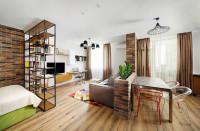 Tehlové predelenie kuchyne od obývačky