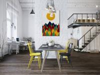 Jedálenská súprava v minimalisticky zariadenom dome