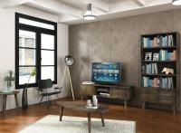 Hnedá obývačková zostava inšpirovaná dizajnom 60. rokov