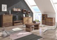 Obývacia stena v prírodnom prevedení s leskom