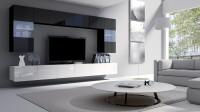 Obývačka v modernom čiernobielom prevedení