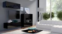 Moderná čiernobiela obývačka