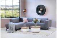 Rohová sivá sedačka do obývacej izby