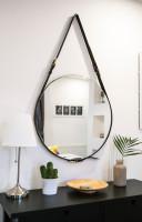Veľké okrúhle zrkadlo na stenu
