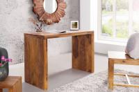 Minimalistický písací stôl z exotického dreva