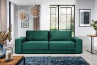 Moderná obývacia izba s nábytkom v sýtych odtieňoch