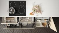 Úložné priestory v kuchynskej linke - zásuvky s organizérmi