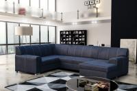 Moderná obývačka s veľkou rohovou sedačkou