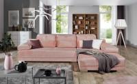 Obývacia izba v ružových odtieňoch v romantickom štýle