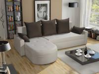 Moderný nábytok do obývacej izby v hnedých a béžových odtieňoch
