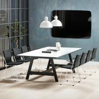 Čiernobiely rokovací stôl do kancelárie