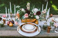 Jesenné svadobné stolovanie s hruškami