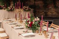 Svadobné stolovanie v ružovej so zlatou
