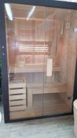 Hranatá saunová kabínka pre dvoch