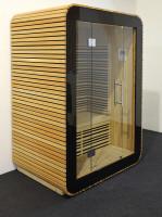 Menšia oblá saunová kabínka