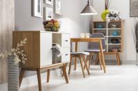 Bielo hnedý nábytok do obývačky v škandinávskom štýle