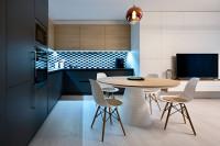 Interiér na mieru z dielne Briku - kuchyňa s obývačkou