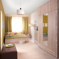 Moderná spálňová zostava z dubového nábytku