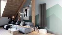 Podkrovná obývacia izba v minimalistickom štýle