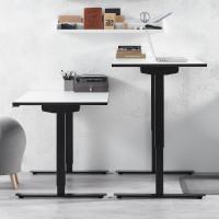 Čiernobiely výškovo nastaviteľný stôl