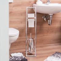 Moderné wc so stojanom z nehrdzavejúcej ocele