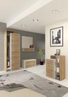 Moderná zostava nábytku z laminovanej drevotriesky