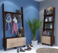 Moderná predsieň s regálovým nábytkom