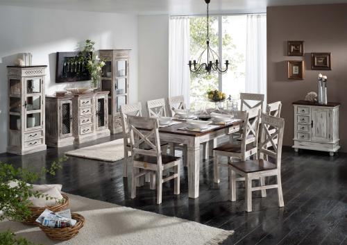 Biela jedáleň v štýle vintage