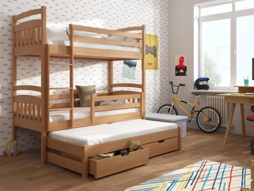 Detská izba s bukovou poschodovou posteľou