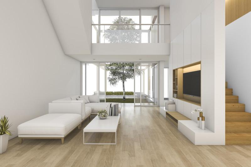 Biela farba je v minimalistickom štýle dôležitá