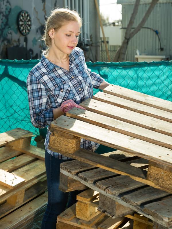 Recyklované drevené palety