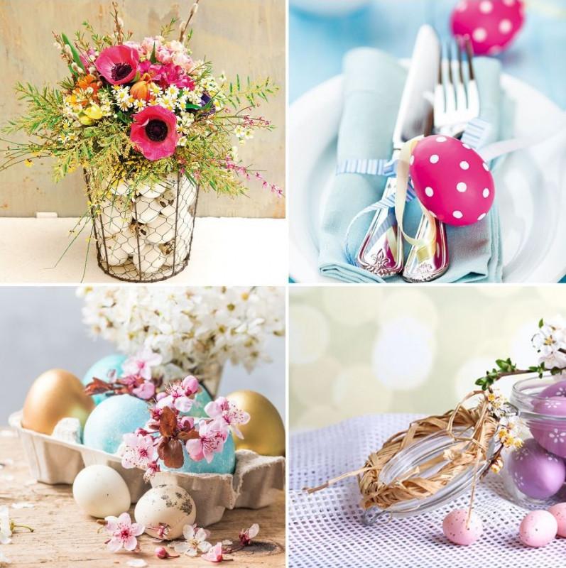 Veľkonočné dekorácie - aranžovanie vajíčok